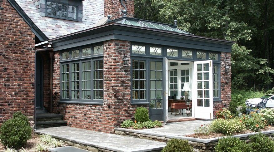 Small Single Room Pool House Masonry Orangery Design Town Country Conservatories House Exterior Traditional Exterior Roof Lantern