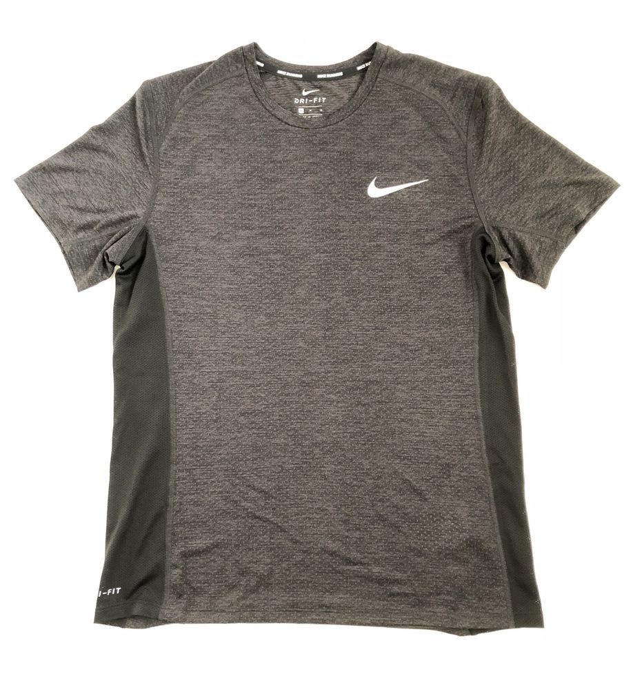 0a0ad121217 NWT Men s Nike Dri-Fit Shirt Black Silver Medium Running Sports Gear  AA4872-014  Nike  ShirtsTops