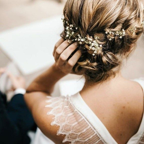 Pretty Braided Updo Bridal Hair Messy Wedding Hair Messy Updo