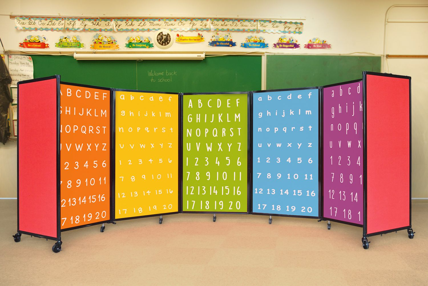 Customize your classroom partition wall with a design or logo of ...