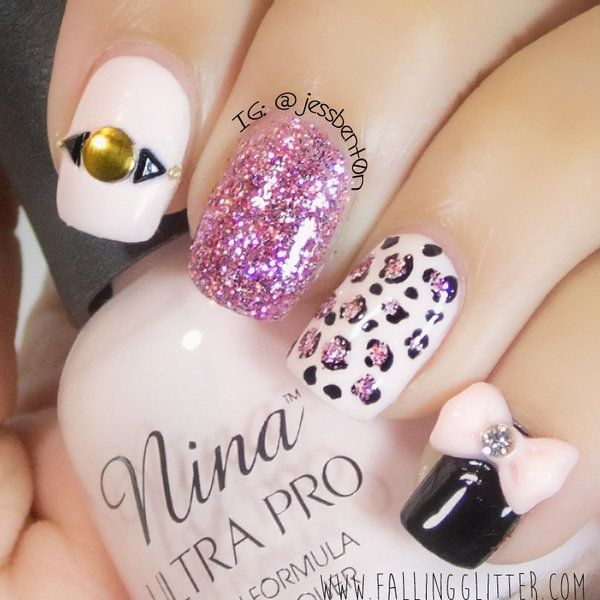 Different designs on every nail. | Nail polish colors & nail art ...