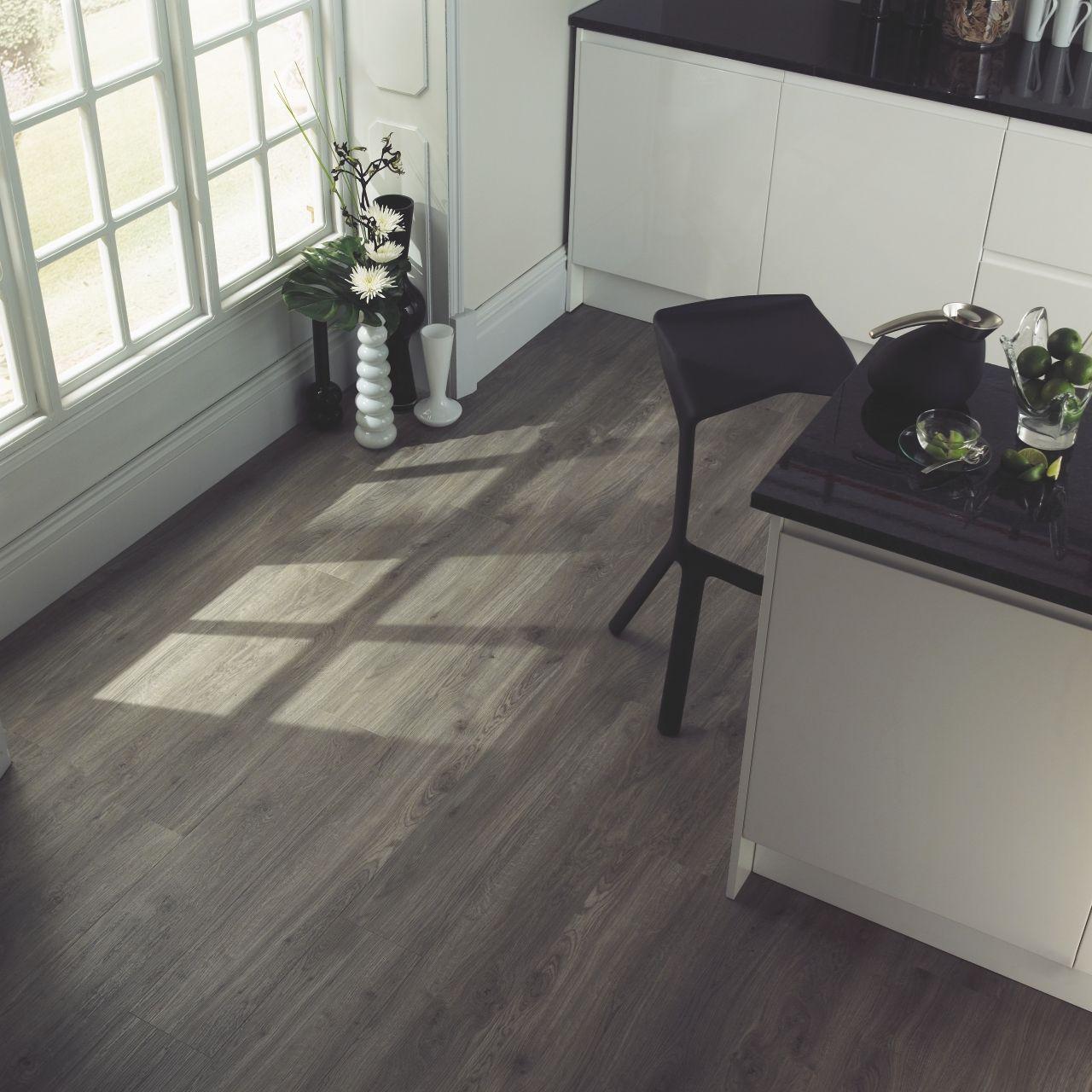 wood flooring weathered oak in a kitchen  amtico spacia weathered oak  www amtico com   flooring   pinterest      rh   pinterest com