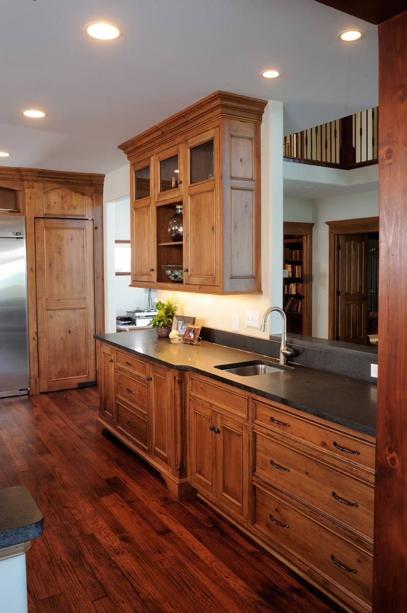 Knotty Cherry Kitchen Mission Style Kitchen Cabinets Kitchen Design Small Kitchen Cabinet Styles