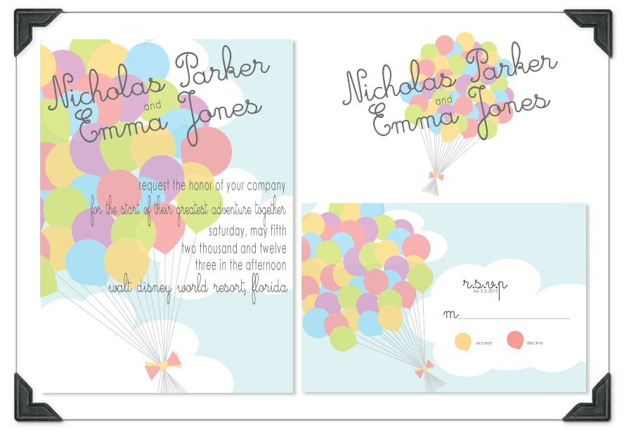 up themed wedding | UP Inspired Invitations - The DIS
