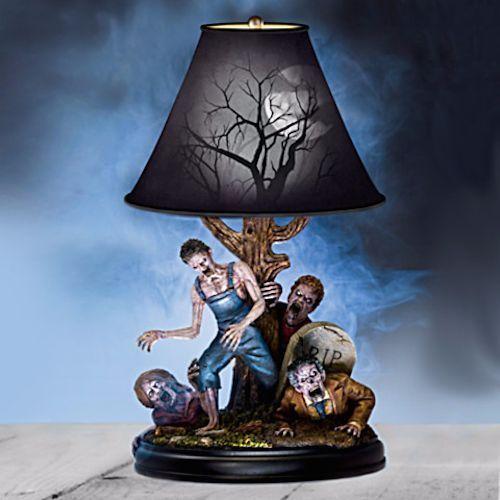 Zombie Walking Dead Tabletop Lamp Halloween Prop Nightlight Shade Undead  Table   Zombie Walk And Halloween Stuff