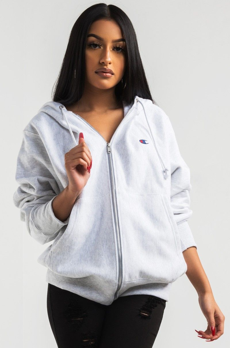 Champion Damen Hooded Full Zip Sweatshirt Kapuzenpullover