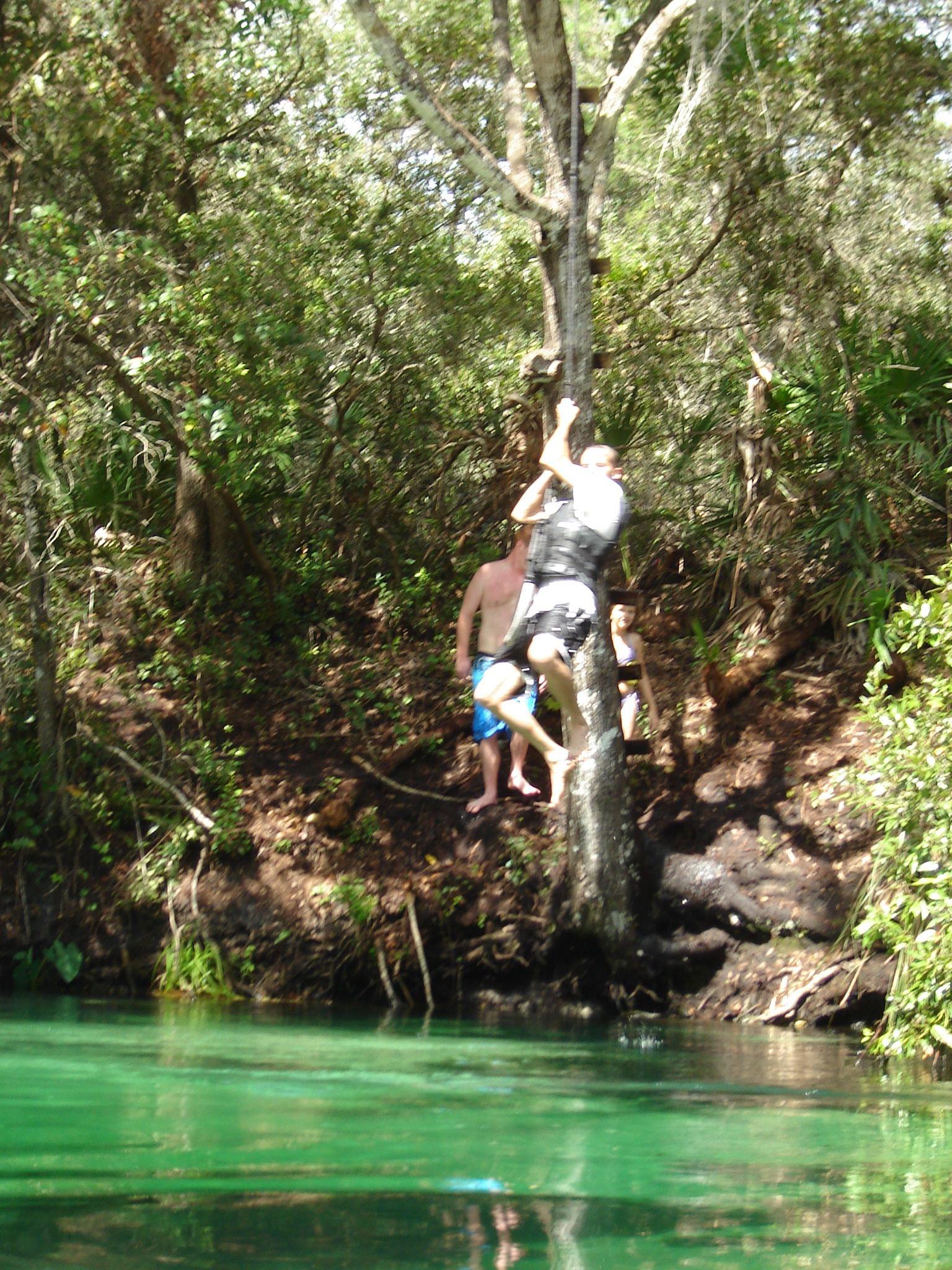 Rope swing at Weeki Wachee Springs & Rope swing at Weeki Wachee Springs   ? USA FL u0027sunshine state ...