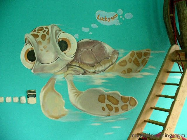 Turtle Wall Mural Kid S Room Kids Room Murals Kids