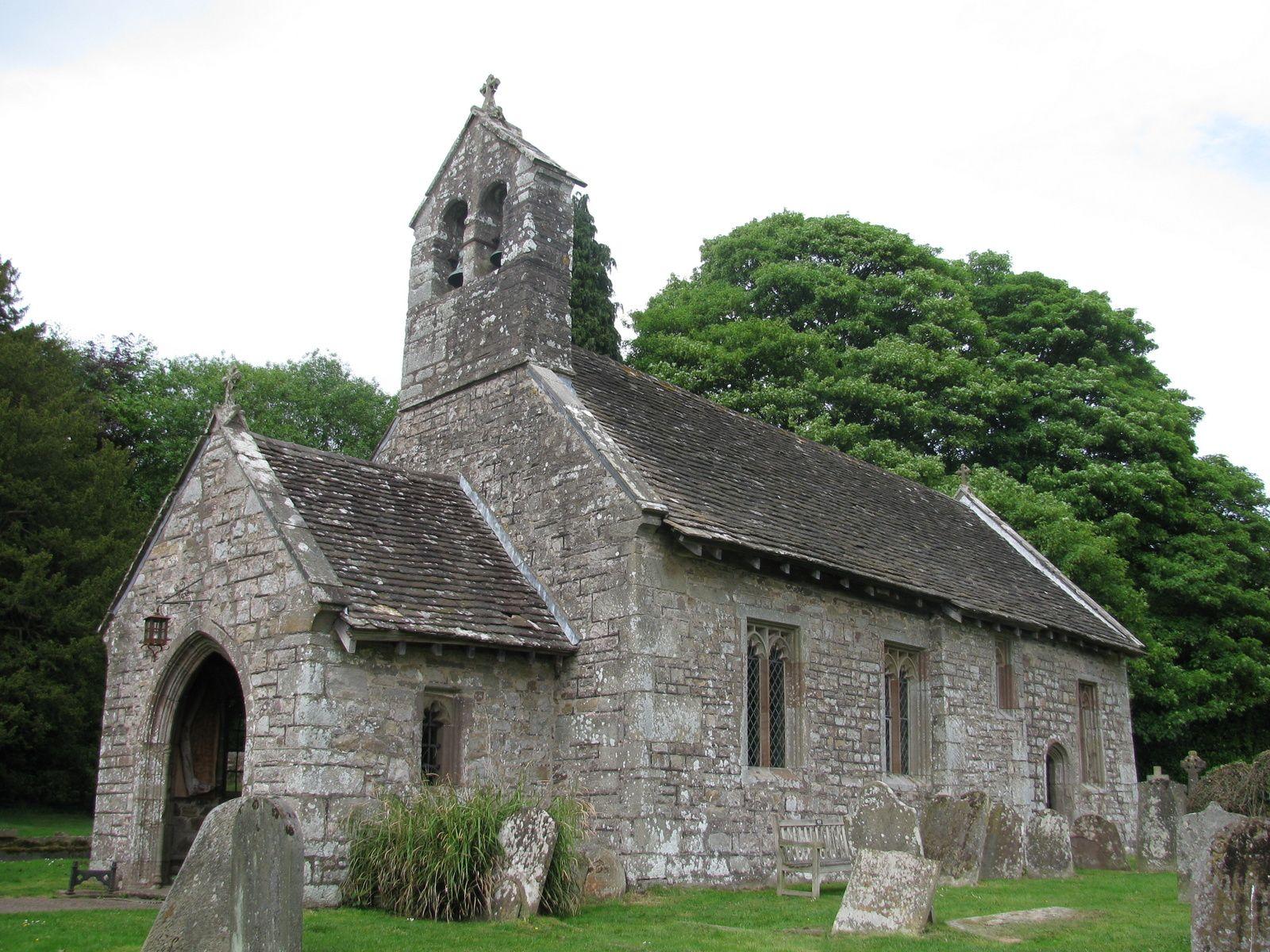 Betws Newydd church (dedication unknown). A small stone ...