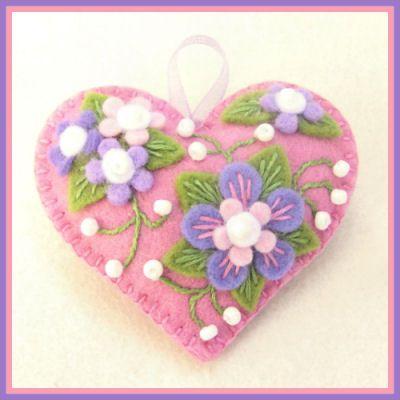 Happy Heart Purple Flower