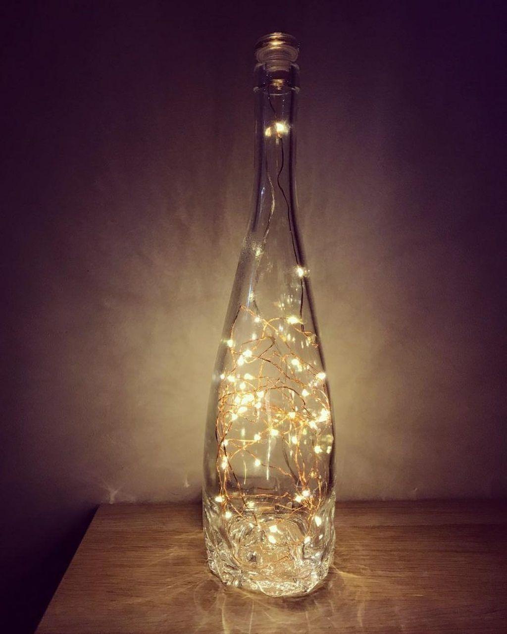 30 Wonderful Diy Bottle Lamp Design Ideas You Must Know Diy Bottle Lamp Wine Bottle Diy Wine Bottle Diy Crafts