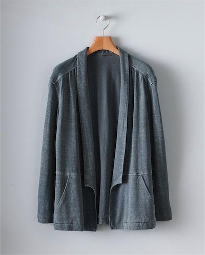 Image of Hemp Cotton Blazer-Style Jacket