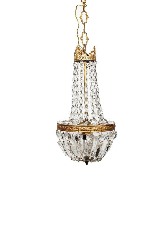 Crystal Chandelier Antique Light Fixture Vintage Lighting Italian - Italian light fixtures