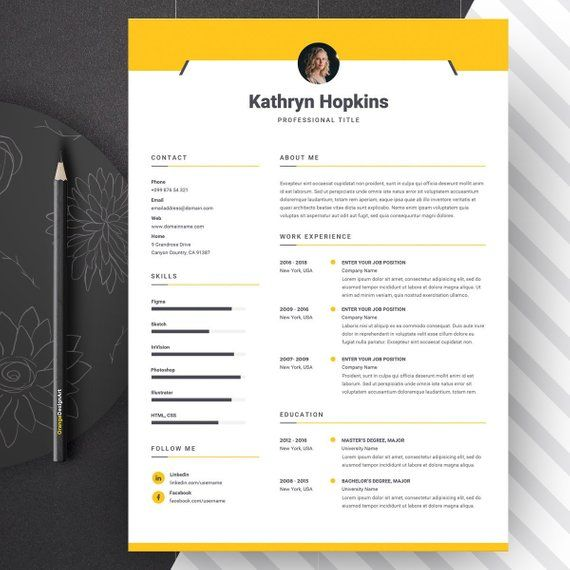 resume template with photo professional cv template word