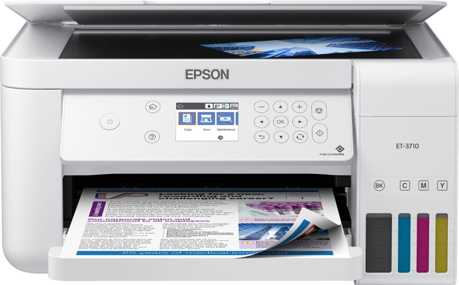 Epson Ecotank Et 3710 Wireless All In One Inkjet Printer White