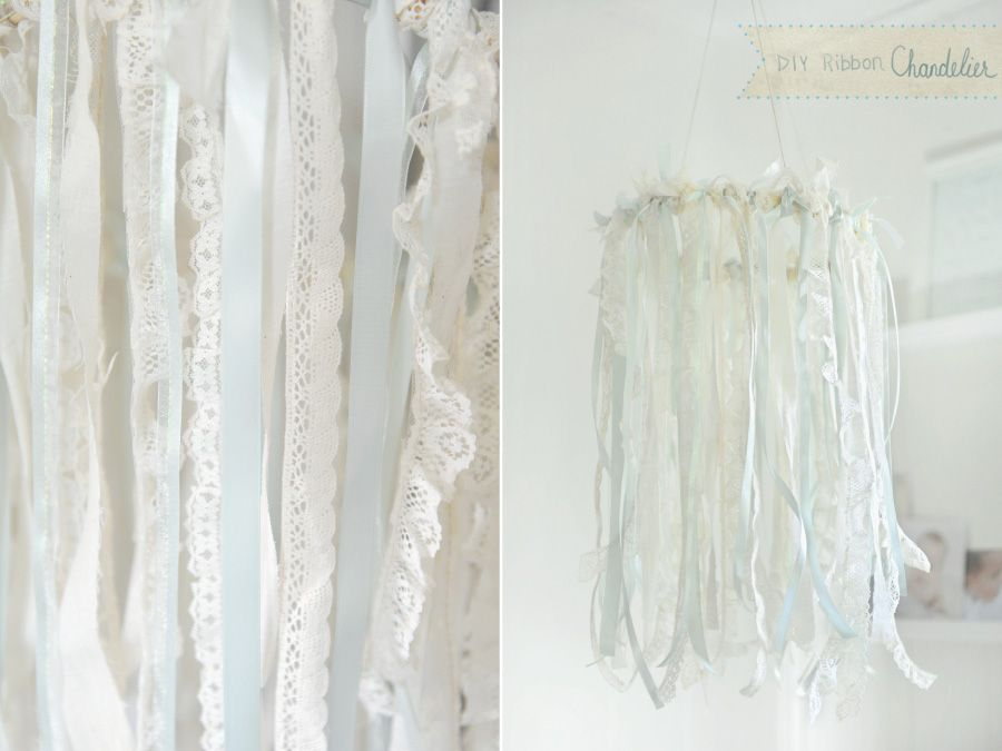 Diy Ribbon Chandelier Lace 12