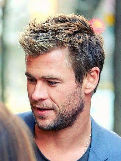 Chris Hemsworth Hot Shirtless Funny Esposa Thor A Chris Hemsworth Hair Men S Short Hair Mens Hairstyles Short