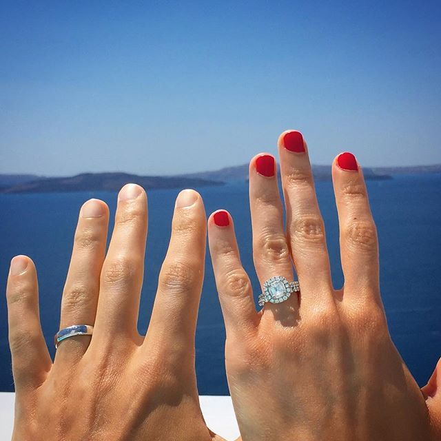 L💗ve Daussi couple Sarah & Justin's amazing Henri Daussi rings #💍 #👰🏼 #jewelry #wedding #bridal