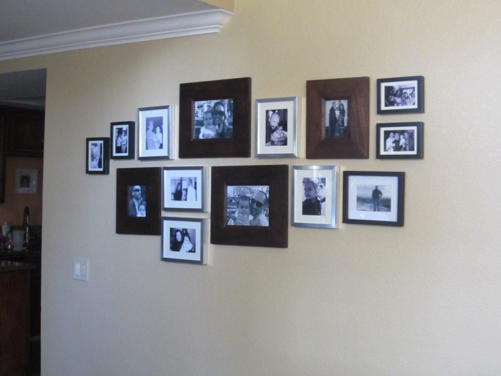 Family Photo Wall -Scroll to see photo strip framing idea!