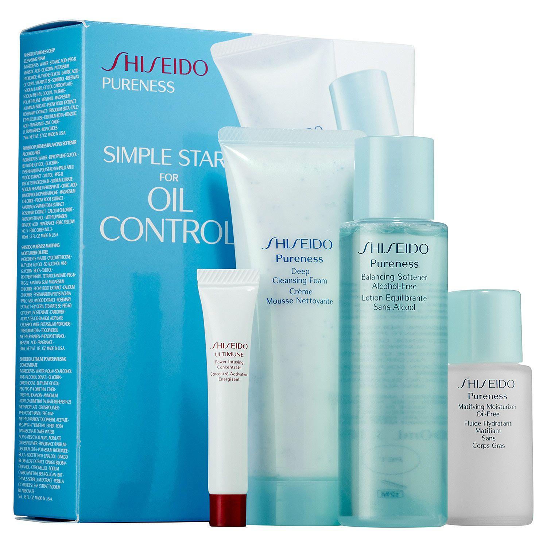 Sephora Shiseido Simple Start For Oil Control Pureness Set Skin Care Sets Travel Value Oil Control Products Skincare Set Shiseido