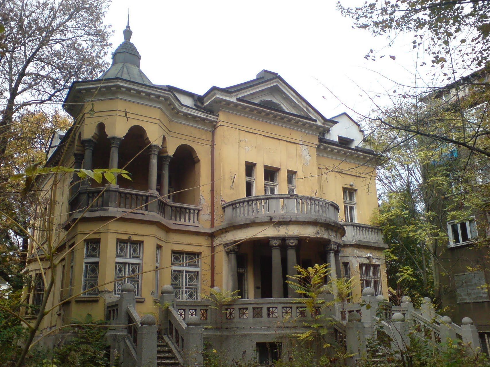 I wonder why this beautiful house was abandoned. There's ...