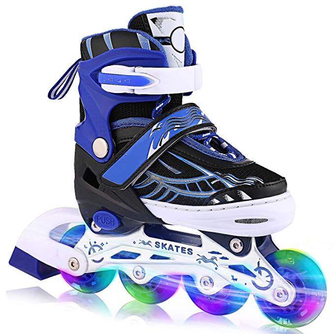 Outinpro Kids Childrens Adjustable Speed Quad Roller Skates Shoes