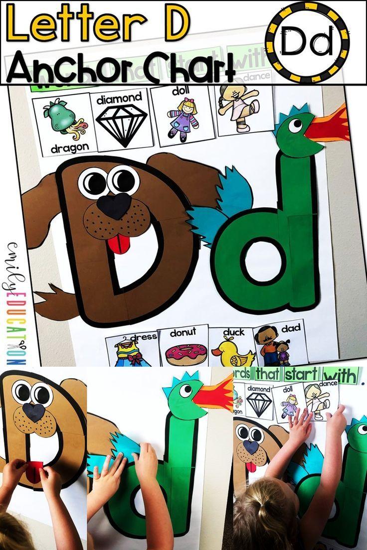 Alphabet Anchor Chart Letter D Anchor charts, Letter d
