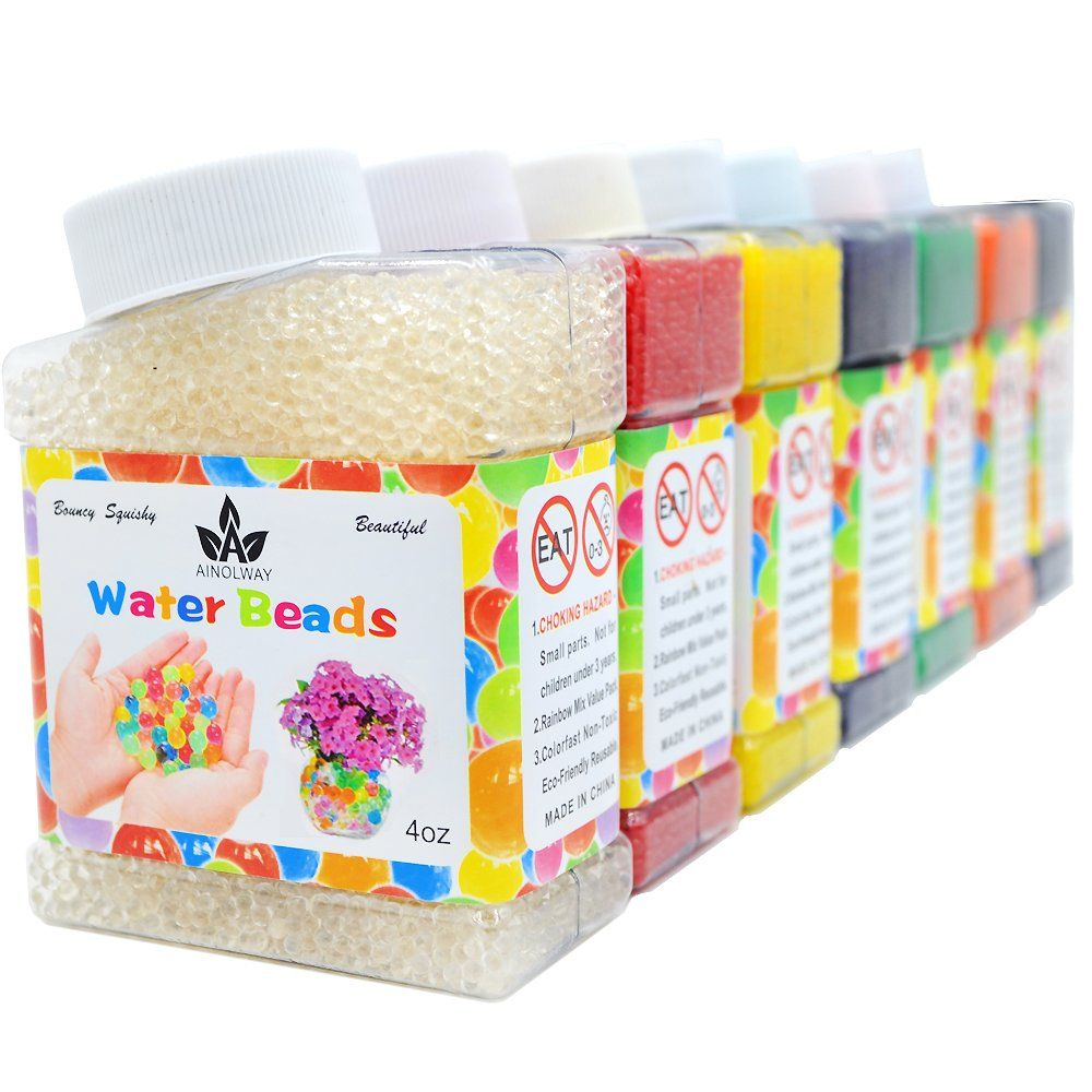 Blue AINOLWAY High Elastic Water Beads Gel Pearls Jelly Crystal Soil for Vase Fillers 4oz Almost 15,000 Pcs
