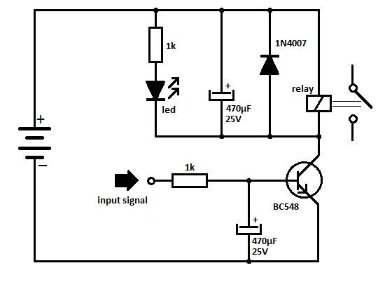transistorrelaydrivercircuit u202c is using the npn transistor bc 548  the relay is connected between