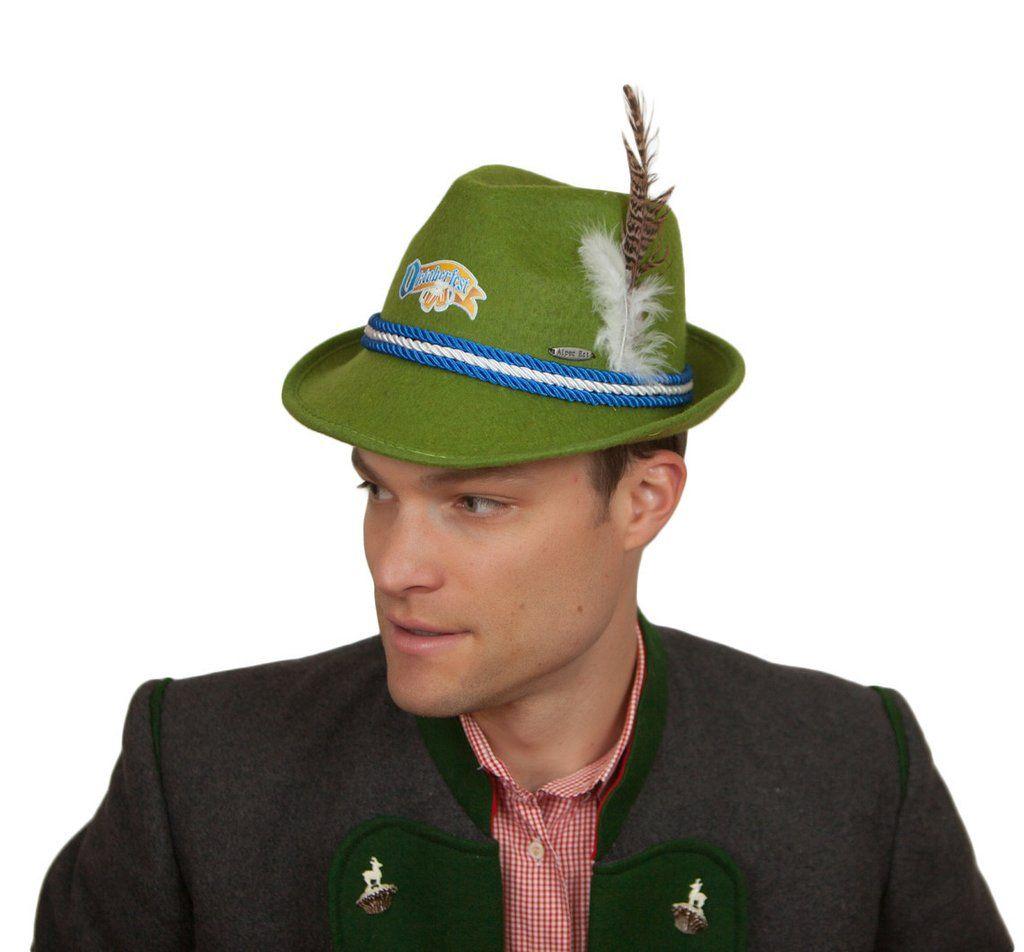 711dddae42b6f Oktoberfest Logo German Felt Mint Green Costume Fedora Hat ...
