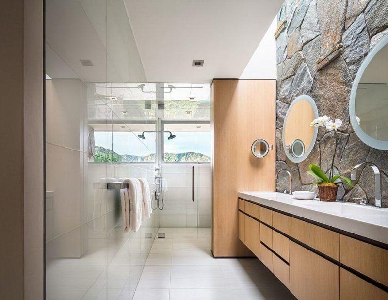 Badezimmer Innen Steinwand Steinwand Tolle Badezimmer Badezimmerideen