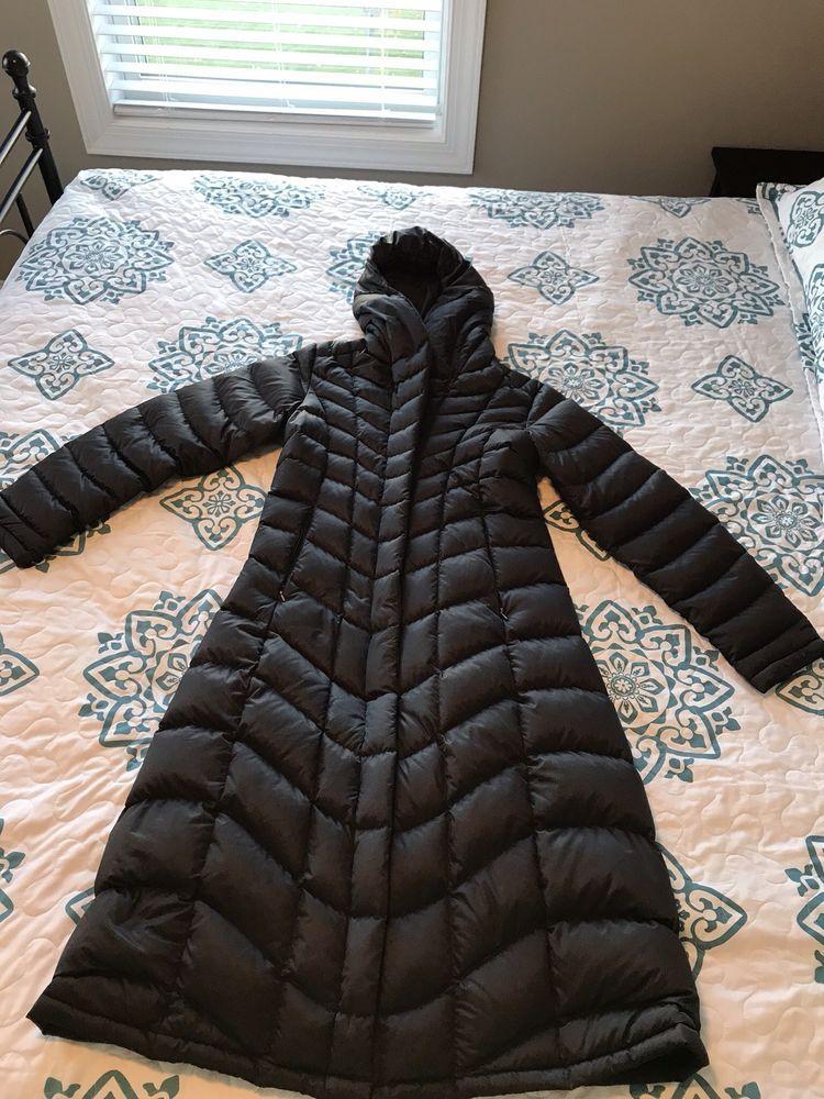 Patagonia Hooded Puffer Coat Jacket Down Medium Long Black