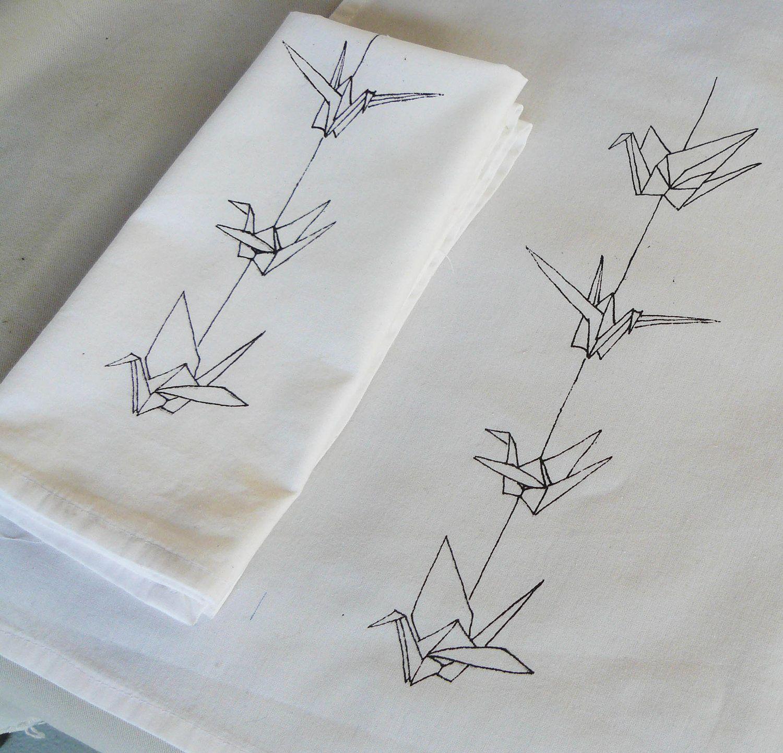 Origami Crane Napkins | Ink | Origami tattoo, Paper crane ... - photo#14