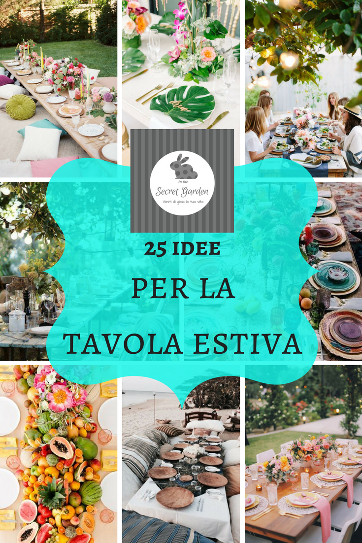 Apparecchiare Tavola In Terrazza decorare la tavola estiva | tavolo giardino, decorazioni e