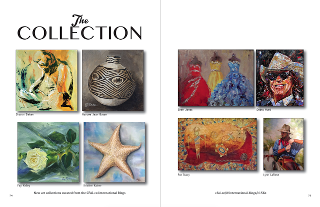 Where Art Lives Magazine: Sharon Sieben, Nancee Jean Busse, Fay Kelley, Kristine Kainer, Sheri Jones, Debra Hurd, Pat Stacy, and Lynn LaRose in The Collection in Where ART Lives Magazine