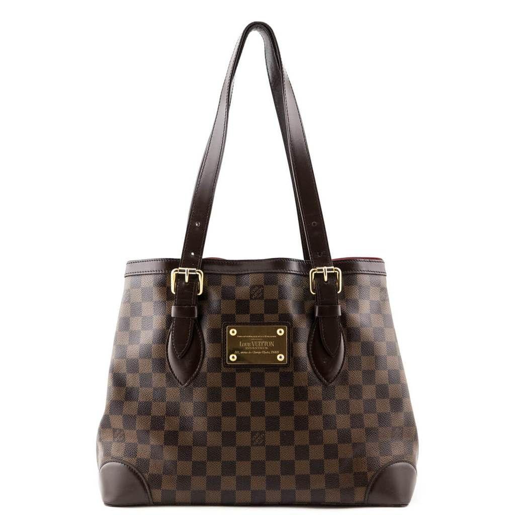 Louis Vuitton Damier Ebene Hampstead Mm Love That Bag Preowned Authentic Designer Handbags Louis Vuitton Louis Vuitton Damier Louis Vuitton Handbags