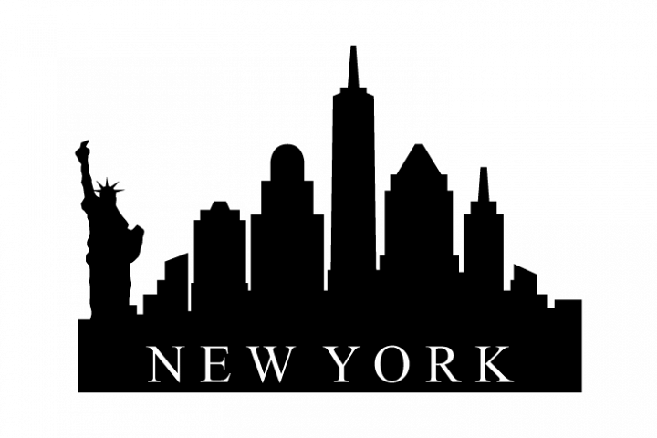 New York Skyline 359768 Illustrations Design Bundles New York Skyline Silhouette Skyline City Vector
