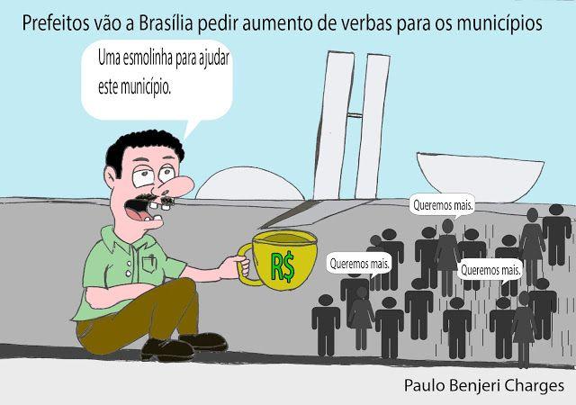 Blog Paulo Benjeri Notícias: Charge: Prefeitos vão a Brasília pedir aumento de ...