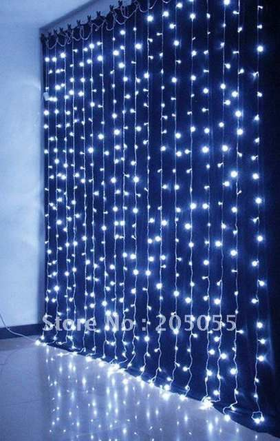 Online Shop 480leds Chirstmas Curtain Light Twinkle Light Lamp 3m H X 3m W Waterfall Water Flow Lights Xmas Wedding Curtain Lights Prom Decor Waterfall Lights