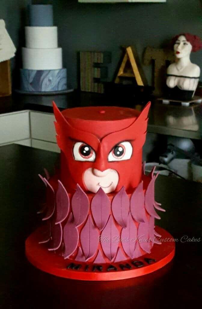 Mask Decorating Ideas Amazing Pj Masks Owlette Cake #owlette #pjmasks #beeskneescustomcakes Inspiration Design