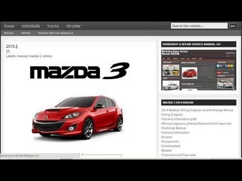 mazda 3 2014 workshop repair service manual mazda workshop manual rh pinterest com 2013 Mazda Axela Mazda Axela 42 Mazda RX-8 2014
