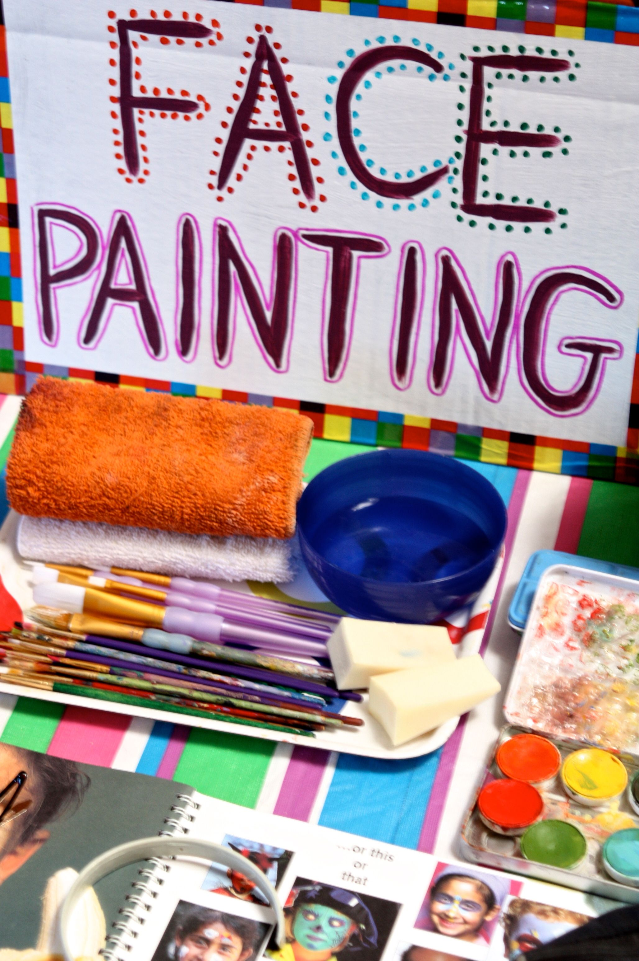 Circus Party - Face Painting Booth | Circus Birthday Party in 2019