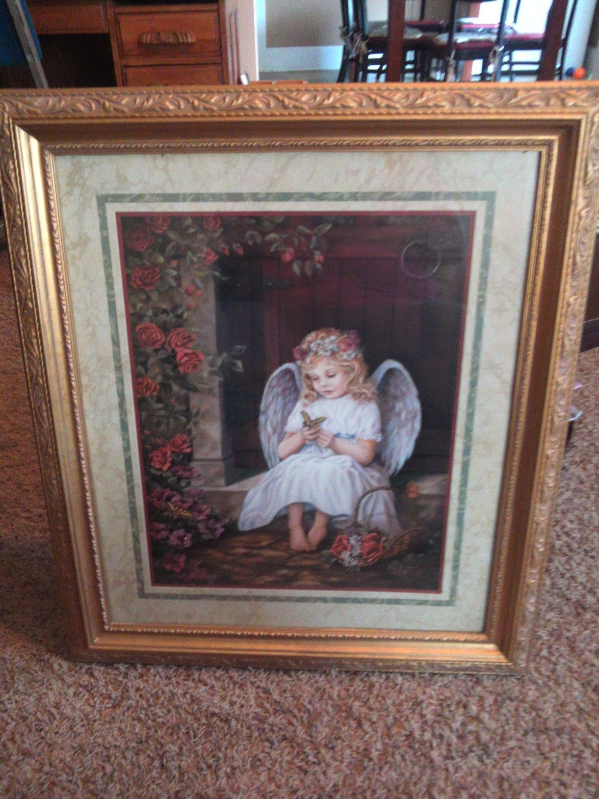 Home Interior Pictures For Sale Part - 19: Home Interior Angel Portrait In Areyu0027s Garage Sale Brownwood, TX