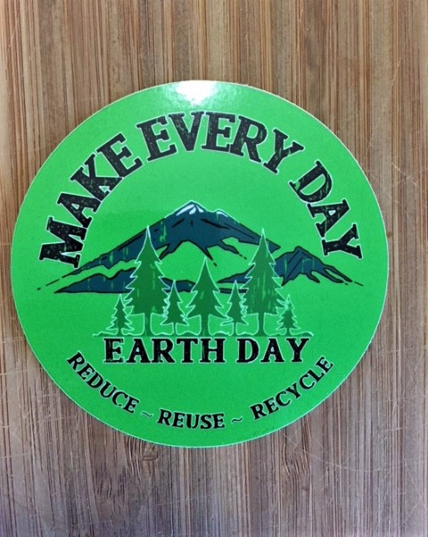Make Every Day Earth Sticker Handmade Earth Projects How To Make Save Earth [ 1803 x 1440 Pixel ]