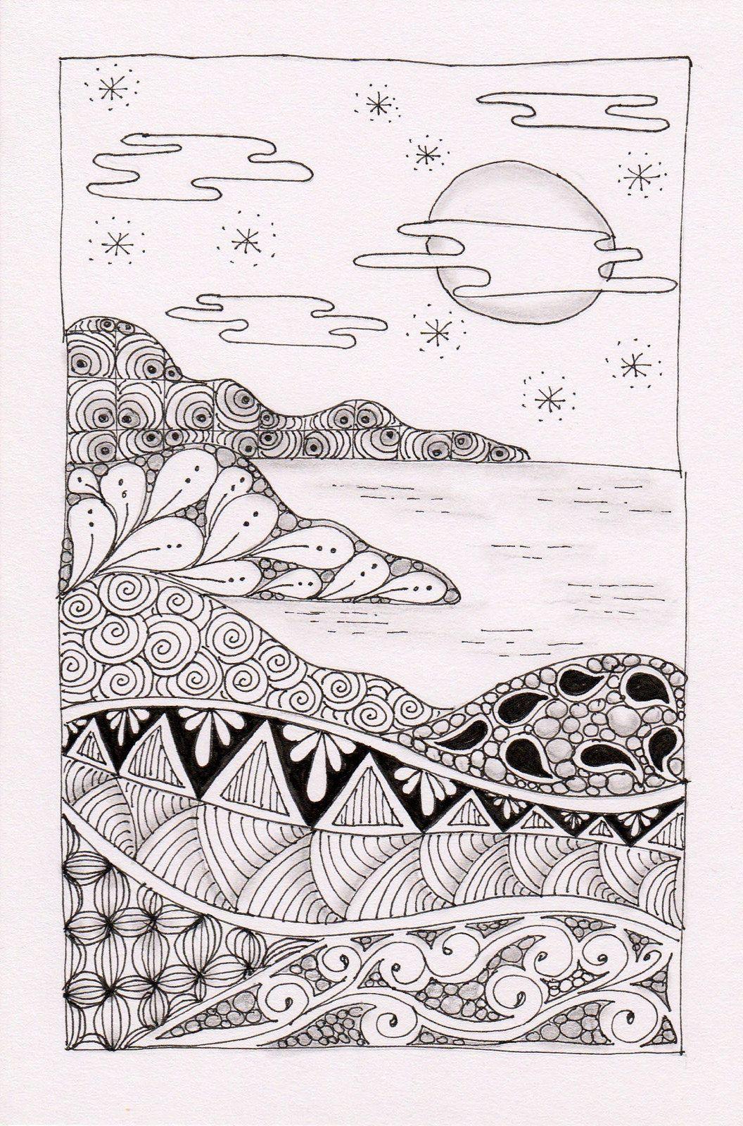 Landscape Zentangle Art Ideas