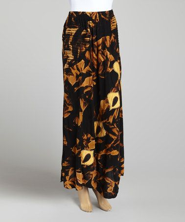 Love This Black Orange Floral Maxi Skirt By Royal Handicrafts On