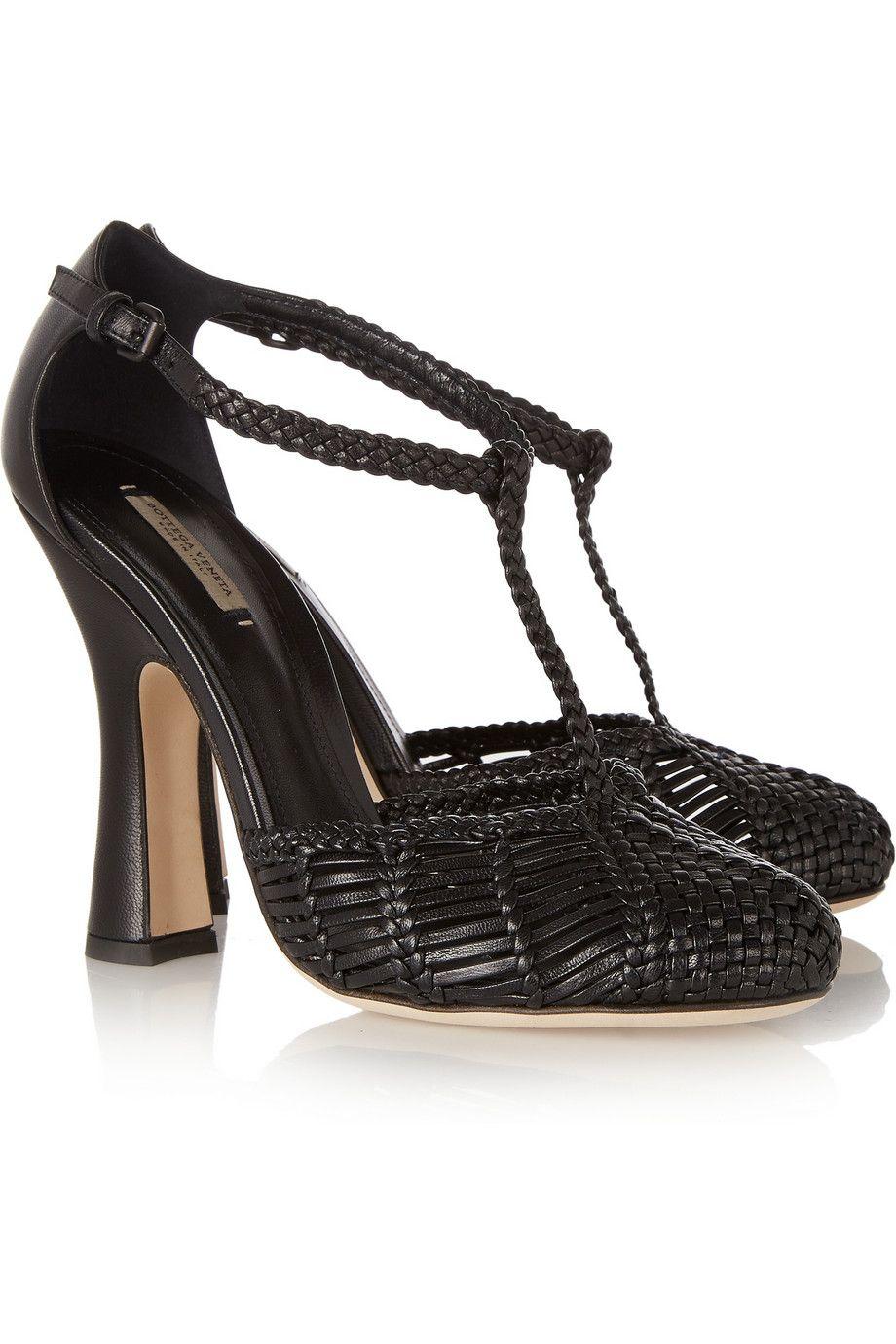Bottega Veneta Woven leather Mary Jane pumps NET-A-PORTER.COM