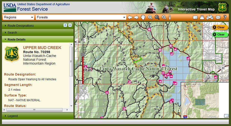 Maps   US Forest Service   Us forest service, Forest service ...