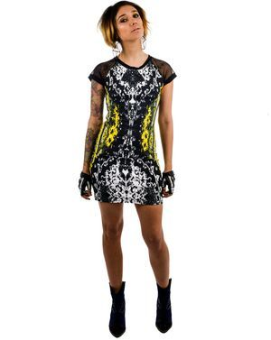 Baylee Dress Neon Scales