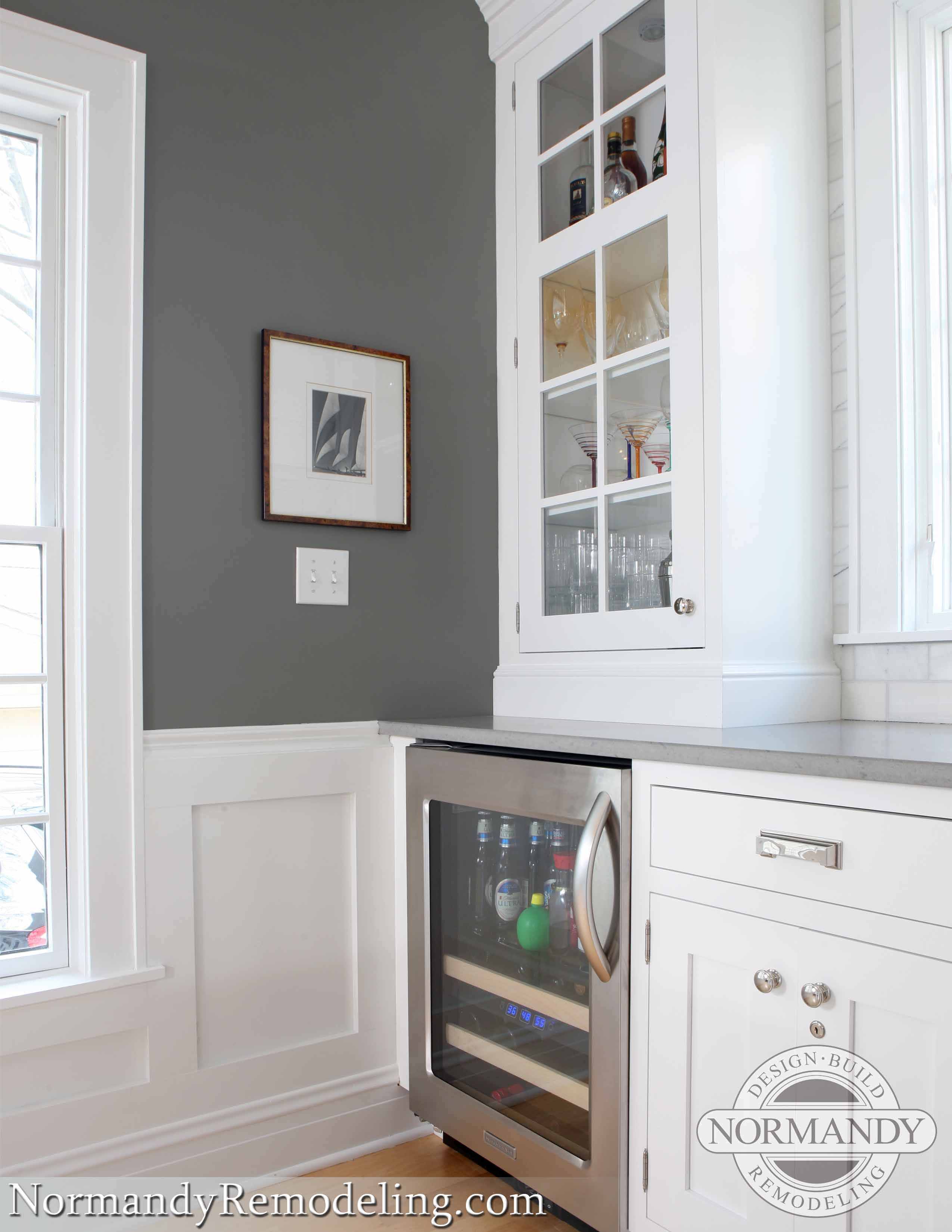 gray and white | Home ideas | Pinterest | Beverage center, Normandy ...